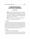 Mô hình định danh thuật ngữ kinh tế thương mại trong tiếng Việt