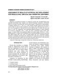 Assessment of results of artificial disc replacement for single level cervical disc herniated treatment