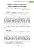 Nhận thức của người dân về tác động của biến đối khí hậu đến sức khỏe cộng đồng (Điển cứu tại xã Tân Trung, huyện Mỏ Cày Nam, tỉnh Bến Tre)