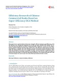 Efficiency research of Chinese commercial banks based on super-efficiency DEA method