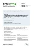 The role of environmental regulations and innovation in TFP convergence: Evidence from manufacturing SMEs in Viet Nam