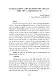 Đánh giá sự phát triển thị trường vốn Việt Nam: Thực tiễn và nhận định rủi ro