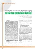 Một số đặc điểm sinh lý và phương pháp bảo quản hạt giống cây Giổi nhung (paramechelia brainensis)