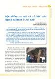 Đặc điểm cư trú và xã hội của người Bahnar ở An Khê