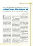 Thực trạng và giải pháp góp phần nâng cao hiệu quả chương trình xây dựng nông thôn mới trên địa bàn tỉnh Gia Lai trong giai đoạn hiện nay
