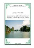 Báo cáo tổng hợp quy hoạch phát triển nuôi trồng hải sản trên biển và hải đảo Việt Nam đến năm 2020