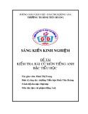 SKKN: Kinh nghiệm kiểm tra bài cũ môn tiếng Anh Bậc Tiểu học