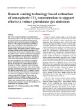 Remote sensing technology-based estimation of atmospheric CO2 concentration to support efforts to reduce greenhouse gas emissions