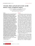 Chronic effects of lead and arsenic on life history traits of Daphnia magna