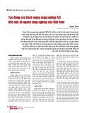 Tác động của Cách mạng công nghiệp 4.0 đến một số ngành công nghiệp của Việt Nam