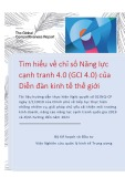 Báo cáo Tìm hiểu về chỉ số năng lực cạnh tranh 4.0 (GCI 4.0) của diễn đàn kinh tế thế giới