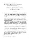 Chính sách cạnh tranh của Việt Nam: Vấn đề và xu hướng xử lý