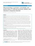 Phenomenology, psychiatric comorbidity and family history in referred preschool children with obsessive-compulsive disorder