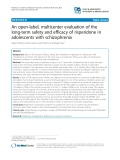 An open-label, multicenter evaluation of the long-term safety and efficacy of risperidone in adolescents with schizophrenia