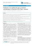 Psychosis in an adolescent girl: A common manifestation in Niemann-Pick Type C disease
