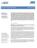 Báo cáo Thị trường trái phiếu tiền tệ - Tháng 9 năm 2019