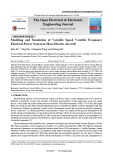 Modeling and simulation of variable speed variable frequency electrical power system in more electric aircraft