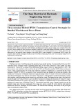 Three-terminal hybrid HVDC transmissions control strategies for bundled wind thermal power plants