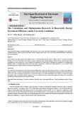 The calculation and optimization research of renewable energy investment efficiency under uncertain conditions