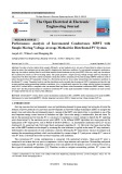 Performance analysis of incremental conductance MPPT with simple moving voltage average method for distributed PV system