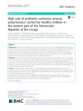 High rate of antibiotic resistance among pneumococci carried by healthy children in the eastern part of the Democratic Republic of the Congo