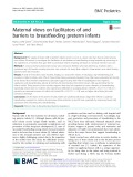 Maternal views on facilitators of and barriers to breastfeeding preterm infants