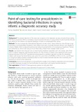 Point-of-care testing for procalcitonin in identifying bacterial infections in young infants: A diagnostic accuracy study