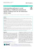 Understanding pathways to social inequalities in childhood unintentional injuries: Findings from the UK millennium cohort study