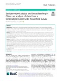Socioeconomic status and breastfeeding in China: An analysis of data from a longitudinal nationwide household survey