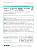 Impact of antiretroviral treatment on height evolution of HIV infected children