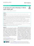 A risk factor for early wheezing in infants: Rapid weight gain