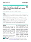Effects of particulate matter (PM) on childhood asthma exacerbation and control in Xiamen, China
