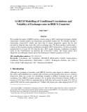 Garch modelling of conditional correlations and volatility of exchange rates in BRICS countries