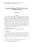 Gauging the efficiency of China's bank using a cost efficiency model