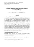 Investor behavior biases and stock market reaction in Kenya