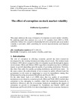The effect of corruption on stock market volatility