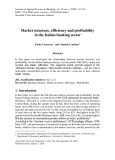 Market structure, efficiency and profitability in the Italian banking sector