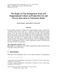 The impact of top management team and organizational culture on product/service and process innovation in Vietnamese banks