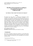 The role of environmental accounting in sustainable development empirical study