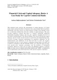 Financial crisis and capital adequacy ratio: A case study for cypriot commercial banks
