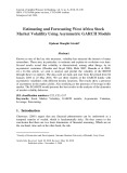 Estimating and forecasting west Africa stock market volatility using asymmetric Garch models