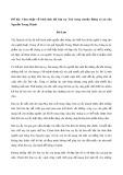 Cảm nhận về hình ảnh đôi bàn tay Tnú trong truyện Rừng xà nu của Nguyễn Trung Thành