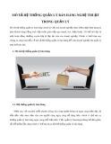 Mô tả hệ thống quản lý bán hàng nghệ thuật trong quản lý