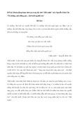 """Bình giảng đoạn thơ sau trong bài thơ """"Đất nước"""" của Nguyễn Đình Thi: """"Ôi những cánh đồng quê... nhớ mắt người yêu"""""""