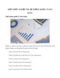 Kiến thức nghiệp vụ: Hệ thống quản lý bán hàng