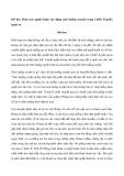 Phân tích nghệ thuật xây dựng tình huống truyện trong Chiếc Thuyền ngoài xa