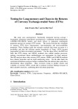 Testing for long-memory and chaos in the returns of currency exchange-traded notes