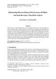 Relationship between financial performance of banks and stock revenues: Panel data analysis