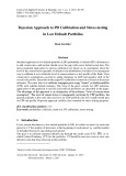 Bayesian approach to PD calibration and stress-testing in low default portfolios