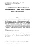 An empirical exploration of customer relationship management practices in banking industry: A study of Indian private sector banks
